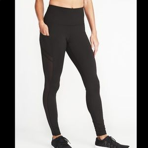 Old Navy High Rise Side Pocket Mesh Trim Legging